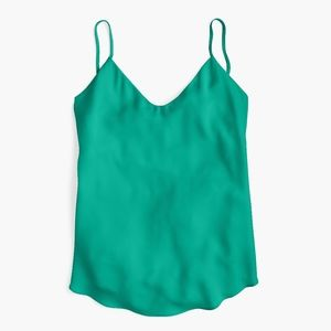 New JCREW Green V-neck camisole